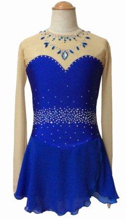 画像1: ジョーゼットのドレス(ブルー)