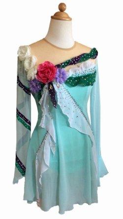 画像1: 花のドレス(ブラック)