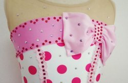 画像4: リボンの水玉ワンピース(ピンク系)