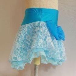 画像3: ふわふわレーススカート スワロフスキー付き(水色系)